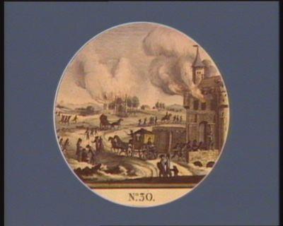 N.o 30 emigration des princes, des courtisans. Les chateaux de campagne brulés : [estampe]