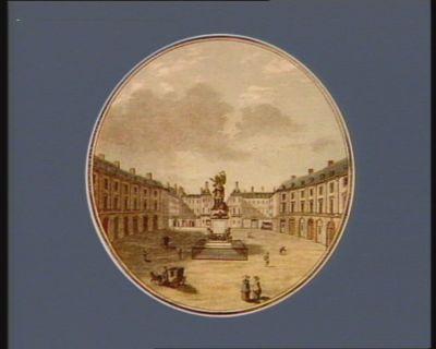 Vue de la place des Victoires [estampe]