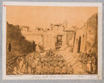 Porta S. Pancrazio. Prospetto esterno dopo il bombardamento del 1849