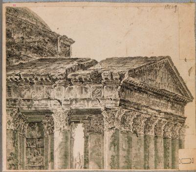 Pantheon, pronao, timpano