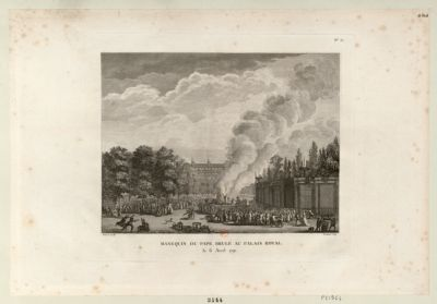 Manequin du pape brulé au Palais Royal le 6 avril 1791 : [estampe]