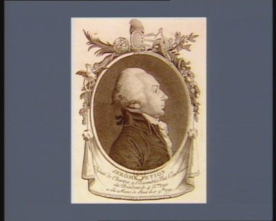 Jérôme Petion député de Chartres à l'Assemblée nat. constituante élu président le 4 X.bre <em>1790</em> et élu maire de Paris le 17 9.bre 1791 : [estampe]