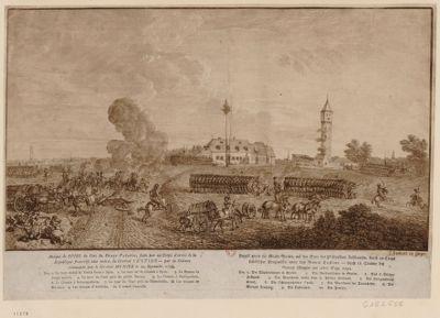Ataque de Spire du Coté du Péage Palatin, faite par un Corps d'armée de la Republique francoise aux ordres du Général Custine [estampe]