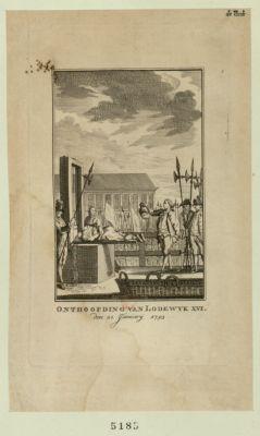 Onthoofding van Lodewyk XVI den 21 january <em>1793</em> [estampe]