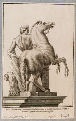 Fontana dei Dioscuri al Quirinale, uno dei due gruppi statuari