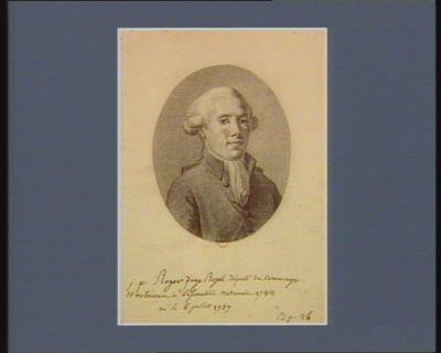 J.P. Roger juge royal député de Comminges et Nébousan à l'Assemblée nationale 1789 né le 6 juillet 1757 : [dessin]