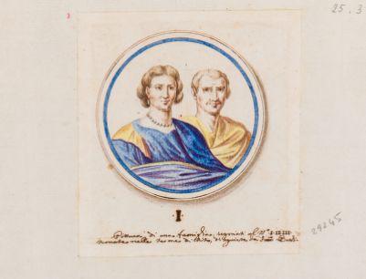 Medaglione con ritratti di coppia di coniugi, Terme di Tito