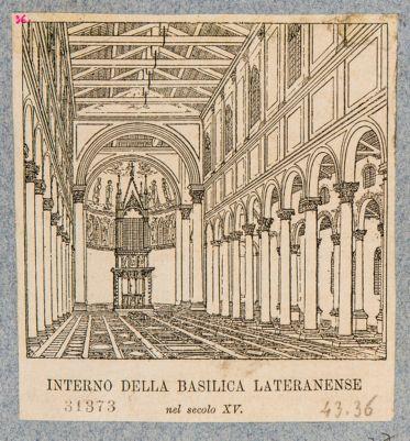 Chiesa di S. Giovanni in Laterano, interno sec. XVI