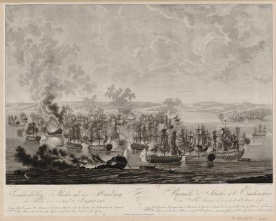 Seeschlacht bey Abukir an der Mündung des Nils an 1. 2. und 3.ten August <em>1798</em> [estampe]