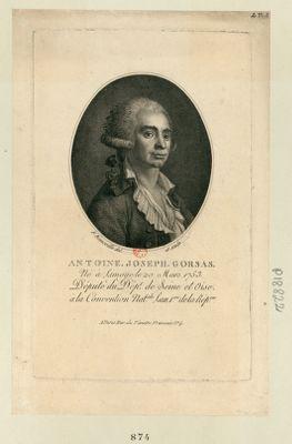 Antoine Joseph Gorsas né à Limoge le 20 mars 1753, député du dépôt de Seine et Oise à la Convention nat.le l'an 1.ere de la Rep.que : [estampe]