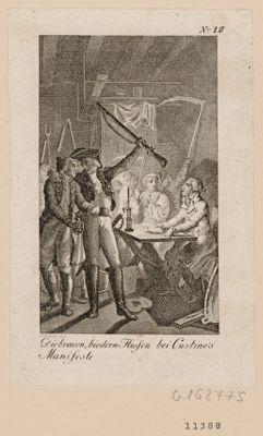 Die  Braven biedern Hessen bei Custine's Manifeste [estampe]