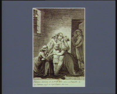 Derniere entrevue de Louis XVI , avec sa famille, le 20 janvier 1793, à sept heures du soir [estampe]