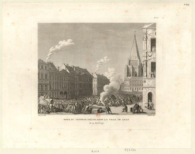 Mort du général Dillon dans la ville de Lille le 19 avril 1792 : [estampe]