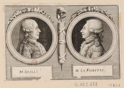 M. Bailly M. La Fayeette [sic] : [estampe]