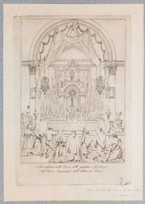 Chiesa di S. Maria Maddalena. Interno, altare maggiore