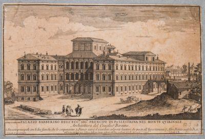 Palazzo Barberini, veduta esterna di scorcio