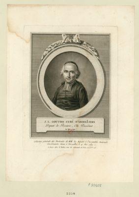 J.L. Gouttes curé d'Argelliers député de Beziers, élu président en mai 1790 : [estampe]
