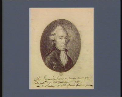 M Perrin de Roziers avocat, né en 1749, deputé du bailliage de Villefranche de Haute Guien[n]e aux Etats generaux en 1789 : [dessin]