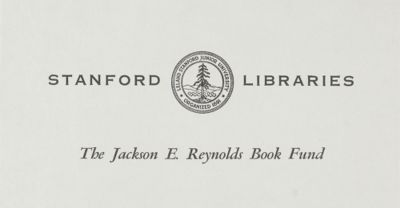 The Jackson E. Reynolds Book Fund