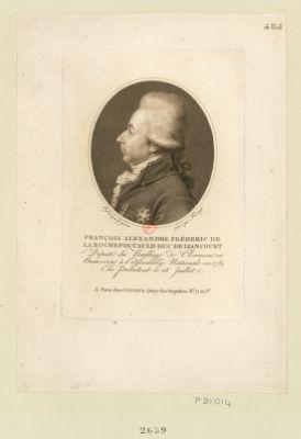 François Alexandre Fréderic de La Rochefoucauld duc de Liancourt député du baillage de Clermont en Beauvoisis à l'Assemblée nationale en 1789 elu president le 18 juillet : [estampe]