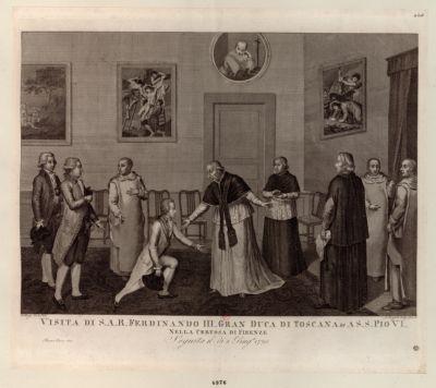 Visita di S. A Ferdinando III. gran duca di Toscana &ca S.S. Pio VI nella certosa di Firenze... : [estampe]