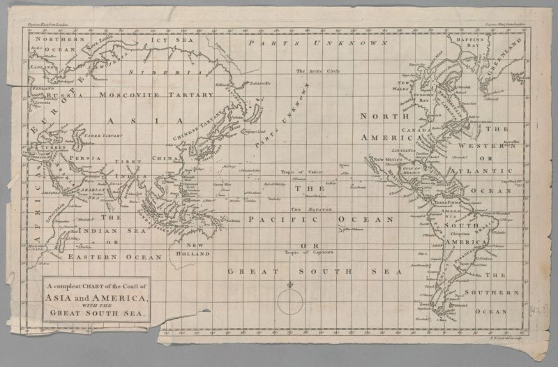 A Compleat Chart of the Coast of Asia and America with the Great South Sea