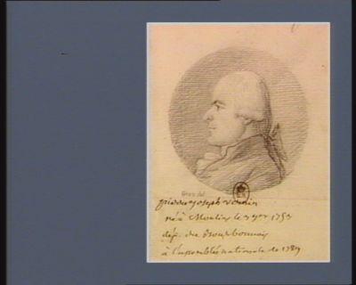Pierre Joseph Vernin né <em>à</em> Moulins le 3 7.bre 1753 député du Bourbonnois <em>à</em> l'Assemblée nationale de 1789 : [dessin]