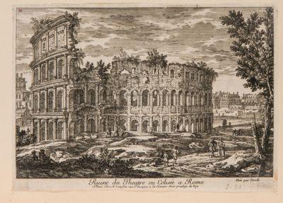 Colosseo, esterno. Veduta d'insieme presa dal tempio