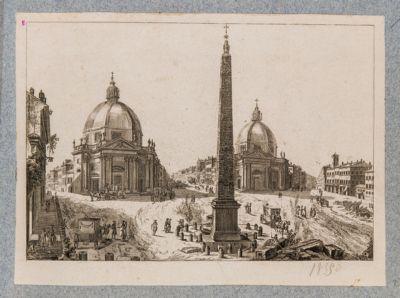 Piazza del Popolo, vista verso il corso