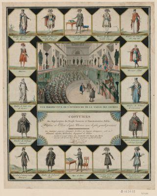 Costumes des représentans du peuple français et fonctionnaires public dessiné et colorié d'après nature avec la plus grande précision [estampe]