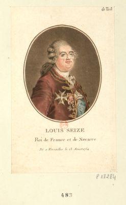 Louis seize Roi de France et de Navarre né à Versailles le 23 aout 1754 : [estampe]