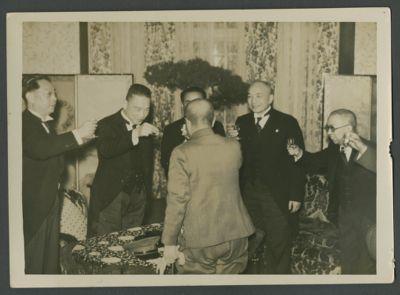 Wang Jingwei with Hideki Tojo