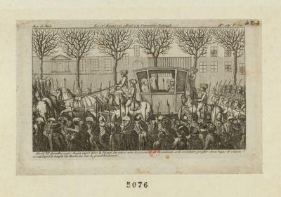 Le  Ci-devant roi allant a la Convention nationale mardi XI decembre <em>1792</em>, Louis Capet... : [estampe]