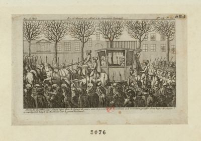 Le  Ci-devant roi allant a la Convention nationale mardi XI decembre 1792, Louis Capet... : [estampe]