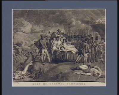Mort du général Dampierre blessé par un boulet de canon, a la bataille du 8 mai 1793, il en mourut le 9 : [estampe]