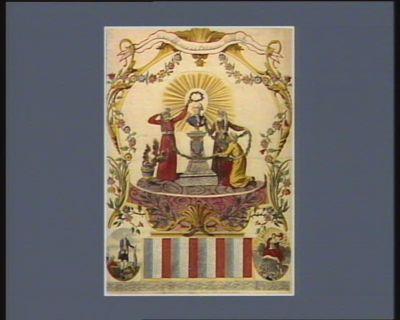 Almanach pour la presente année <em>1789</em> hommage des indiens a Louis seize : [estampe]