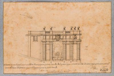 Palazzo del Quirinale. Fontana del giardino
