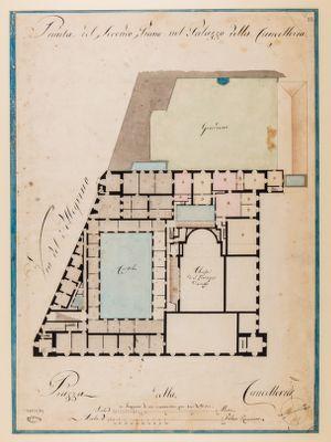Palazzo della Cancelleria. Secondo piano, pianta