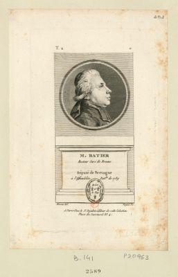 M. Ratier : recteur curé de Broons né au même lieu en 1745 député de Bretagne à l'Assemblée nat.le de 1789 : [estampe]