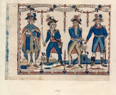 Portraits des generaux commandant les armées de Reveillière capitaine de vaisseau chef d'escadre chef de brigade : [estampe]