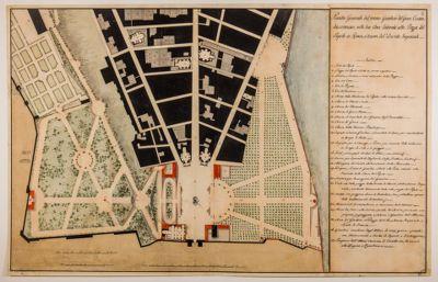 Piazza del Popolo. Giardino del Gran Cesare, pianta
