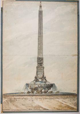 Progetto per l'innalzamento dell'obelisco Barberini