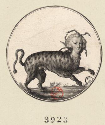 [Visage de Marie-Antoinette sur un corps de hyène] [estampe]