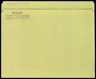 Correspondence - John Allen - Donald E. Knuth
