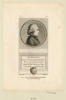M. Bluget docteur de Sorbonne doyen cure des Ricy. Né a Riccy le Bas le 11 7.bre 1731 député du bail.e de Bar sur Seine à l'Assemblée nat.le de 1789 : [estampe]