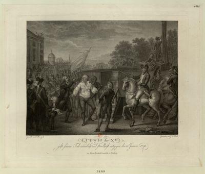 Ludwig der XVI geht sienem Tod mämlich und Standhaft entgegen, den 21 Januar <em>1793</em> : [estampe]