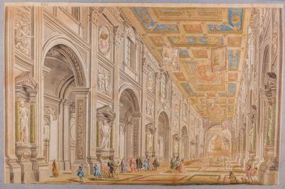 Chiesa di S. Giovanni in Laterano. Interno, veduta