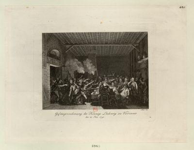 Gefangennehmung des Koënigs Ludewig zu Varennes den 22 Jun. 1791 : [estampe]