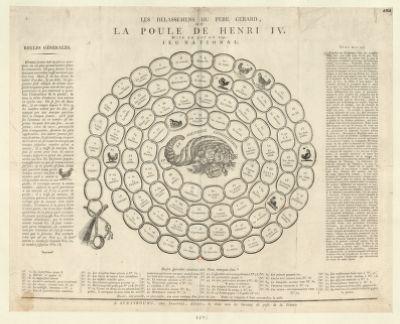 Les  Délassemens du Pere Gerard ou la poule de Henri IV mise au pot en 1792 : jeu national : [estampe]