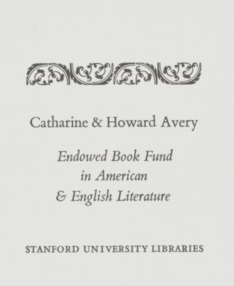 The Catherine W. and Howard M. Avery Book Fund